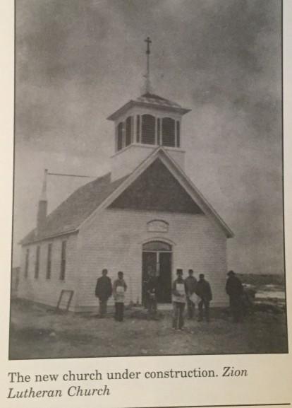 Zion Lutheran wood frame church