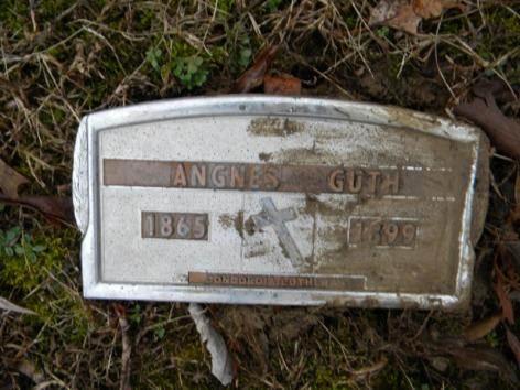 Agnes Guth grave marker Concordia Frohna MO
