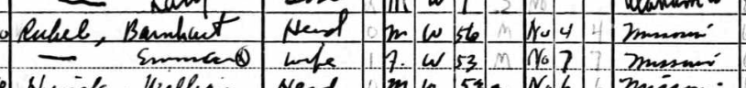 Ben Rubel 1940 census Cape Girardeau MO