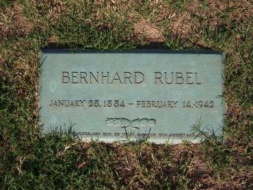 Ben Rubel gravestone Cape Memorial Cape Girardeau MO