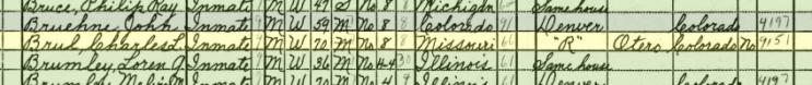 Charles Bruhl 1940 census Pueblo CO