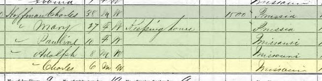 Charles Hoffmann 1870 census Brazeau Township MO