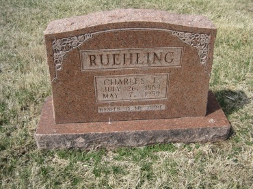 Charles Ruehling gravestone Immanuel New Wells MO