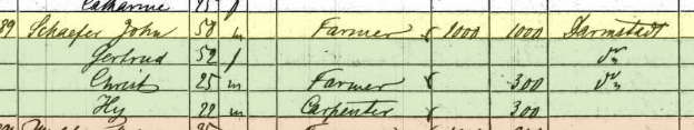 Christian Schaefer 1860 census Apple Creek Township MO