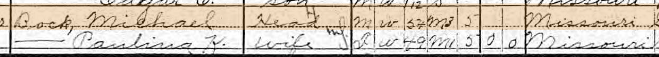 Christian Schaefer 1910 census 1 Union Township MO