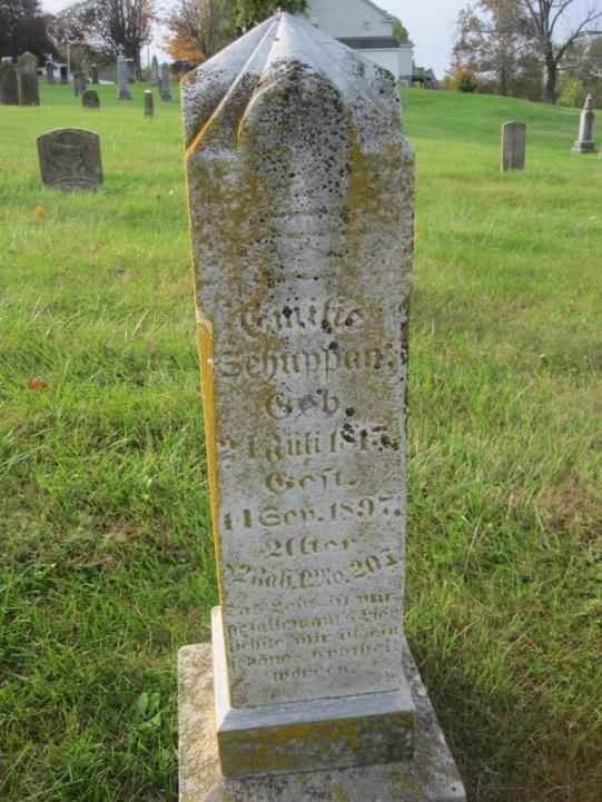 Emilie Caroline Schuppan gravestone Immanuel New Wells MO