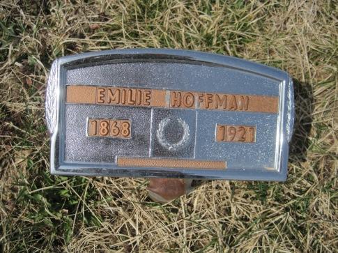Emilie Hoffmann gravestone Immanuel New Wells MO
