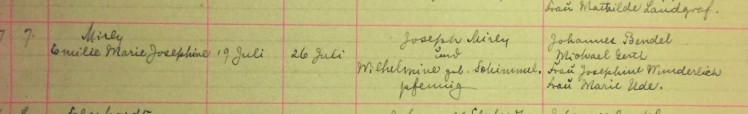 Emilie Mirly baptism record Immanuel New Wells MO