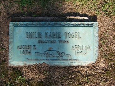 Emilie Vogel gravestone Cape Memorial Cape Girardeau MO