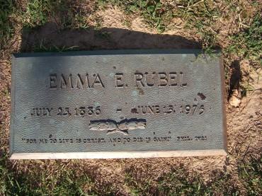 Emma Rubel gravestone Cape Memorial Cape Girardeau MO