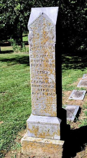 Erich Pape Jr. gravestone Zalma Cemetery Zalma MO