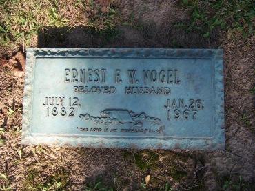 Ernest F.W. Vogel gravestone Cape Memorial Cape Girardeau MO