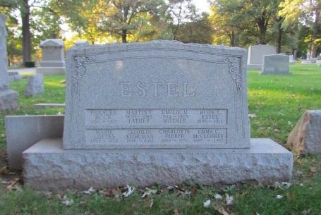 Estel family gravestone Concordia St. Louis MO