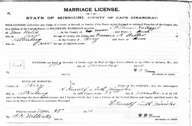Hutteger Weber marriage license