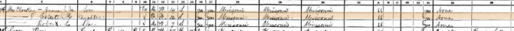 James McCloskey 1930 census 2 St. Louis MO