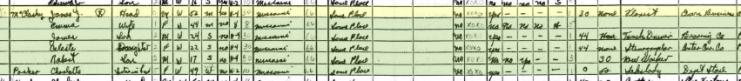 James McCloskey 1940 census St. Louis MO