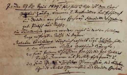 Johanne Christiane Zeibig baptism record Trinity Altenburg MO