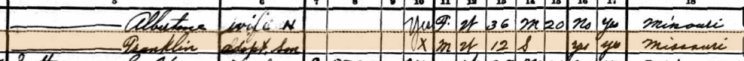 John Emmendorfer 1930 census 2 Central Township MO
