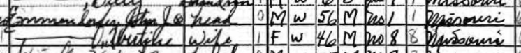 John Emmendorfer 1940 census Central Township MO