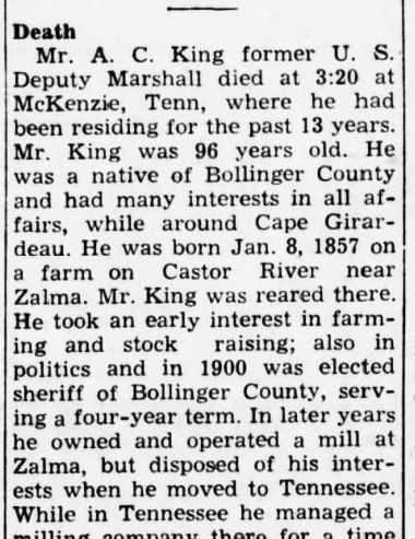 John King obituary 1