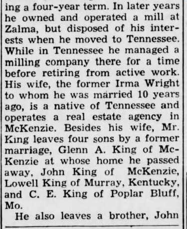 John King obituary 2