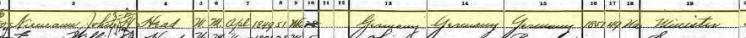 John Niemann 1900 census Cleveland OH