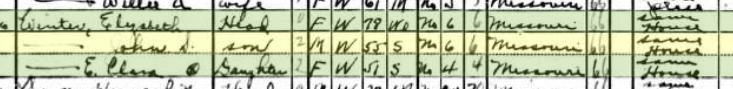 John Winter 1940 census Afton OK
