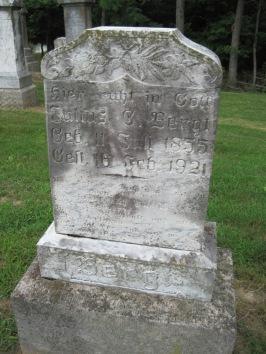 Julius Bergt gravestone Concordia Frohna MO