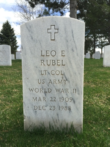 Leo Rubel gravestone Fort Logan National Cemetery Denver CO