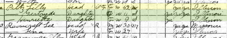 Lillie Pilz 1920 census Murphysboro IL