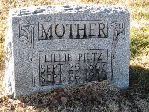 Lillie Pilz gravestone Tower Grove Murphysboro IL