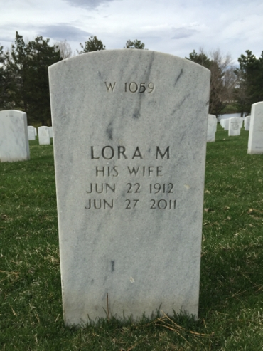 Lora Rubel gravestone Fort Logan National Cemetery Denver CO