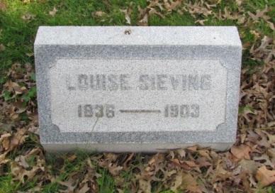 Louise Sieving gravestone Concordia St. Louis MO