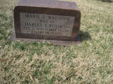 Marie Ruehling gravestone Immanuel New Wells MO