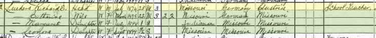 Richard Lueders 1900 census Allen County IN