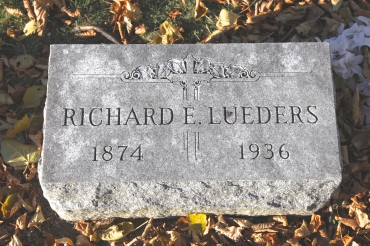 Richard Lueders gravestone Prospect Hill York PA