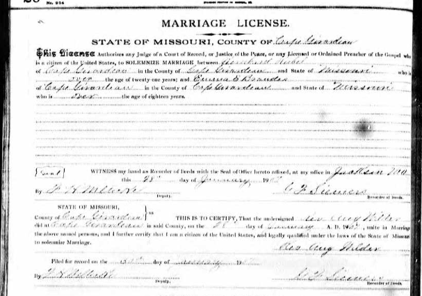 Rubel Brandes marriage license