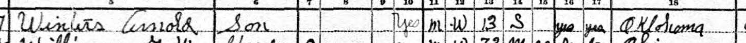 Rudolph Winter 1930 census 2 Afton OK