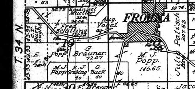 Schuppan land map 1915 1854