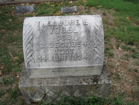 Theodore Vogel gravestone Zion Pocahontas MO