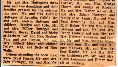 William and Emma Hutteger 50th anniversary article 3