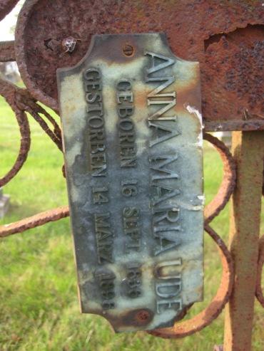 Anna Maria Ude gravestone 1 Immanuel New Wells MO