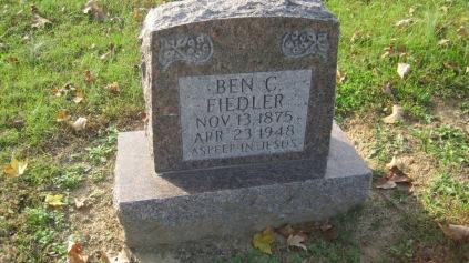 Benjamin Fiedler gravestone Trinity Shawneetown MO