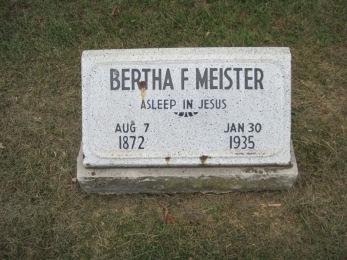 Bertha Meister gravestone Concordia Frohna MO