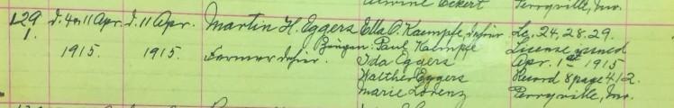 Eggers Kaempfe marriage record Salem Farrar MO