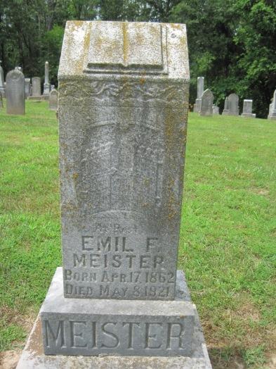 Emil Meister gravestone Concordia Frohna MO