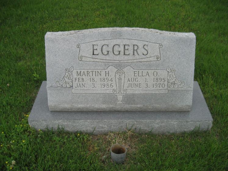 Martin and Ella Eggers gravestone Immanuel Perryville MO