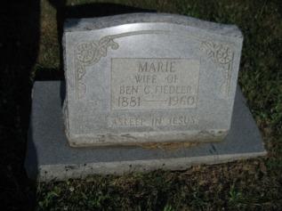 Mary Fiedler gravestone Trinity Altenburg MO