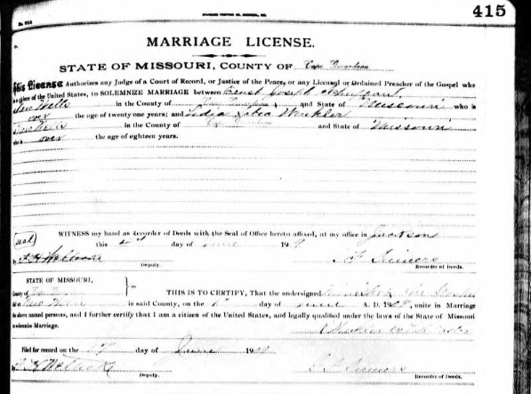 Schuppan Winkler marriage license
