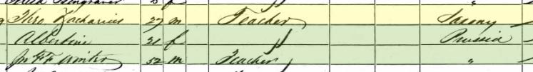 Theodore Zacharias 1860 census Brazeau Township MO